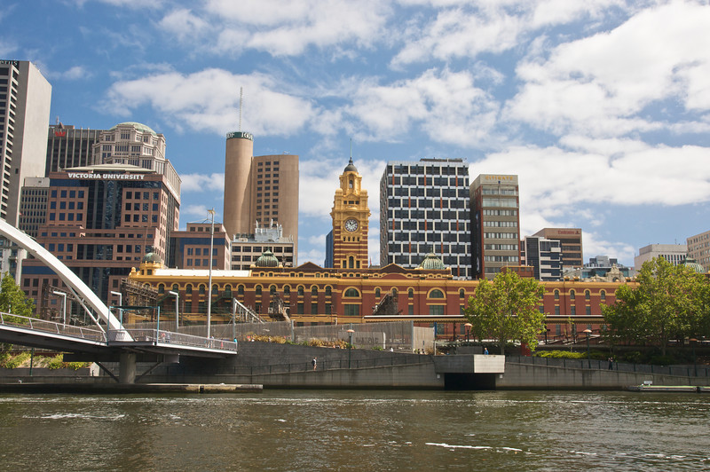 Melbourne City from River Cruise