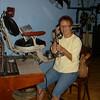 Vadis demonstrating her job as a tele operator