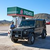 Gas stop on our way back towards Loreto
