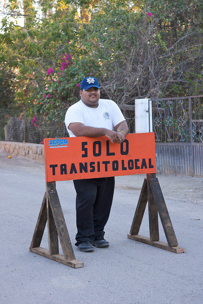 Police officer in Mulege