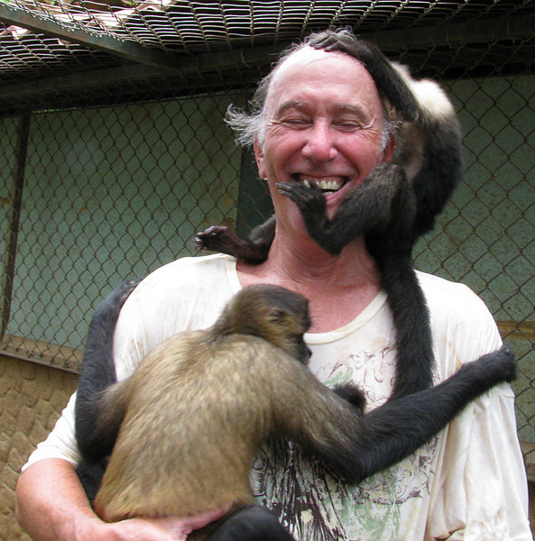 Monkeying around with some friends we met.