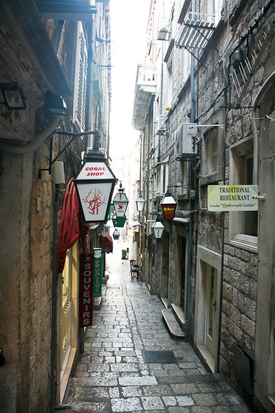The streets and alleys of Dubrovnik