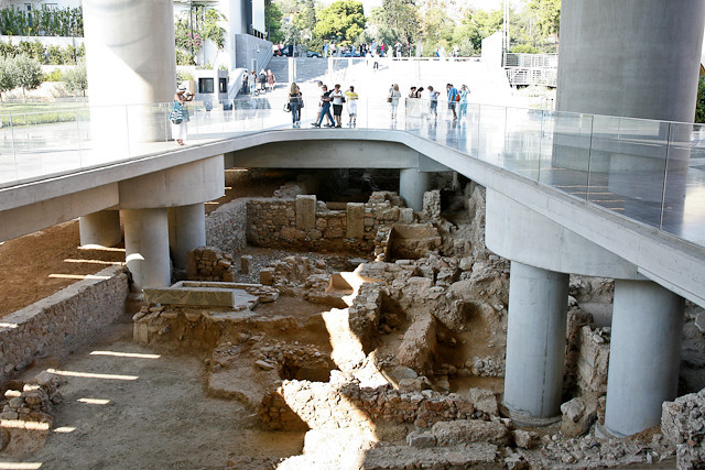 Outside Acropolis Museum