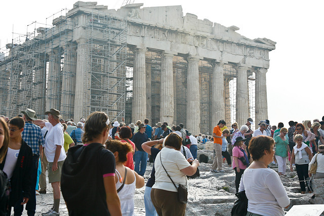 The Parthenon - On top with other tourists seemed like all from cruise ships