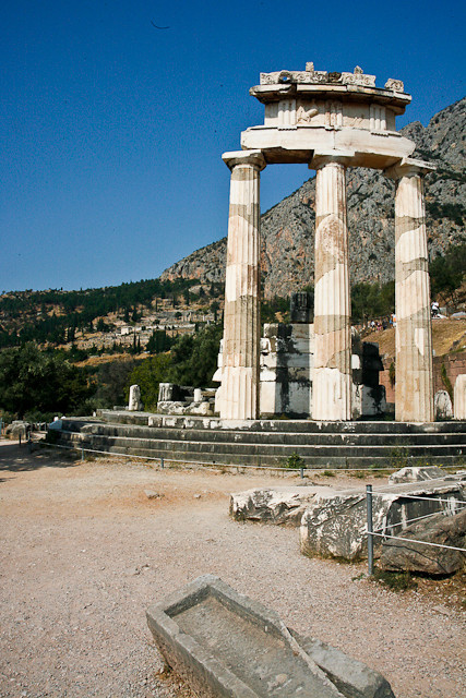 Delphi Greece - center of the world.