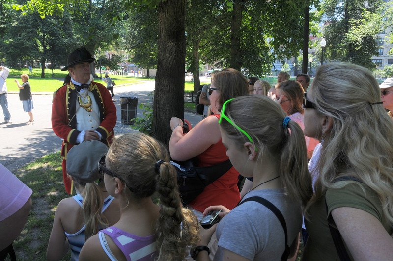 We took an excellent 2 1/2 hour walking tour along the Freedom Trail.  The girls really enjoyed it, which was great.