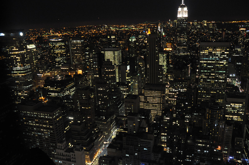 "From the ""Top of the Rock"" with the Empire State building off in the distance"