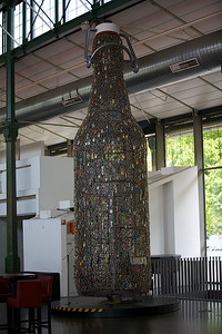 Beer Bottle Made of Beer Tabs.