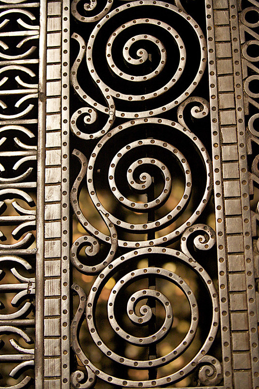 Steal Grate In The Strasbourg Cathedral