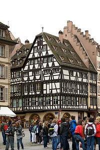 Across from The Strasbourg Cathedral