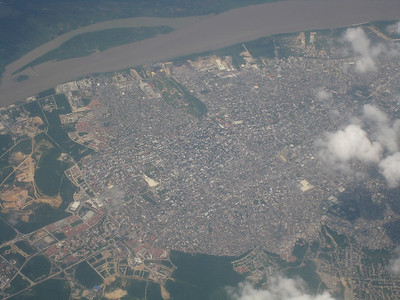...and passing over Barranquilla, same city where Shakira is from. Look at Google Earth, and you can match up the imagery.
