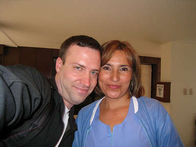 Me and Luz Mery at my alternative medicine clinic. A real sweetie and a great massage therapist.