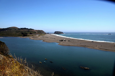 THe Russian River Estuary at Jenner