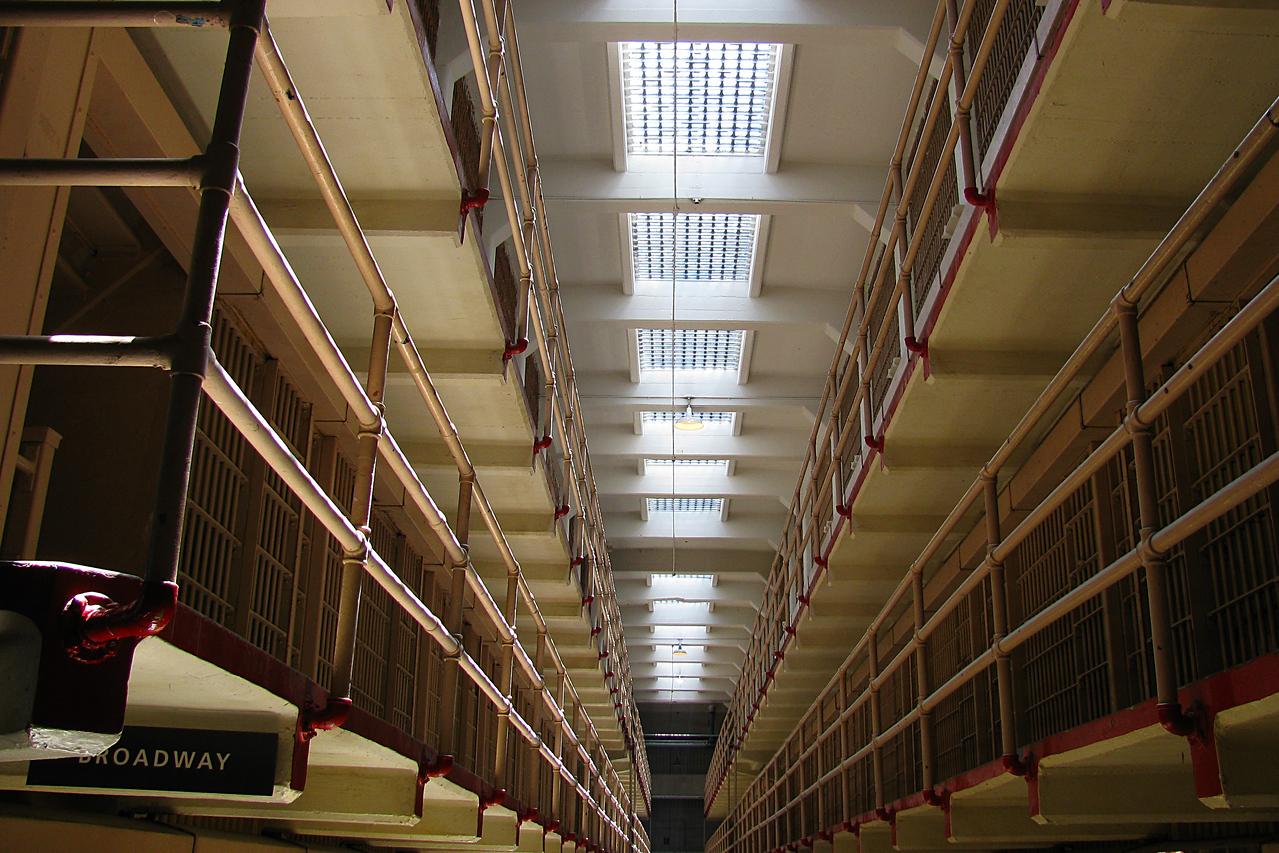 Cell block in Alkatraz.