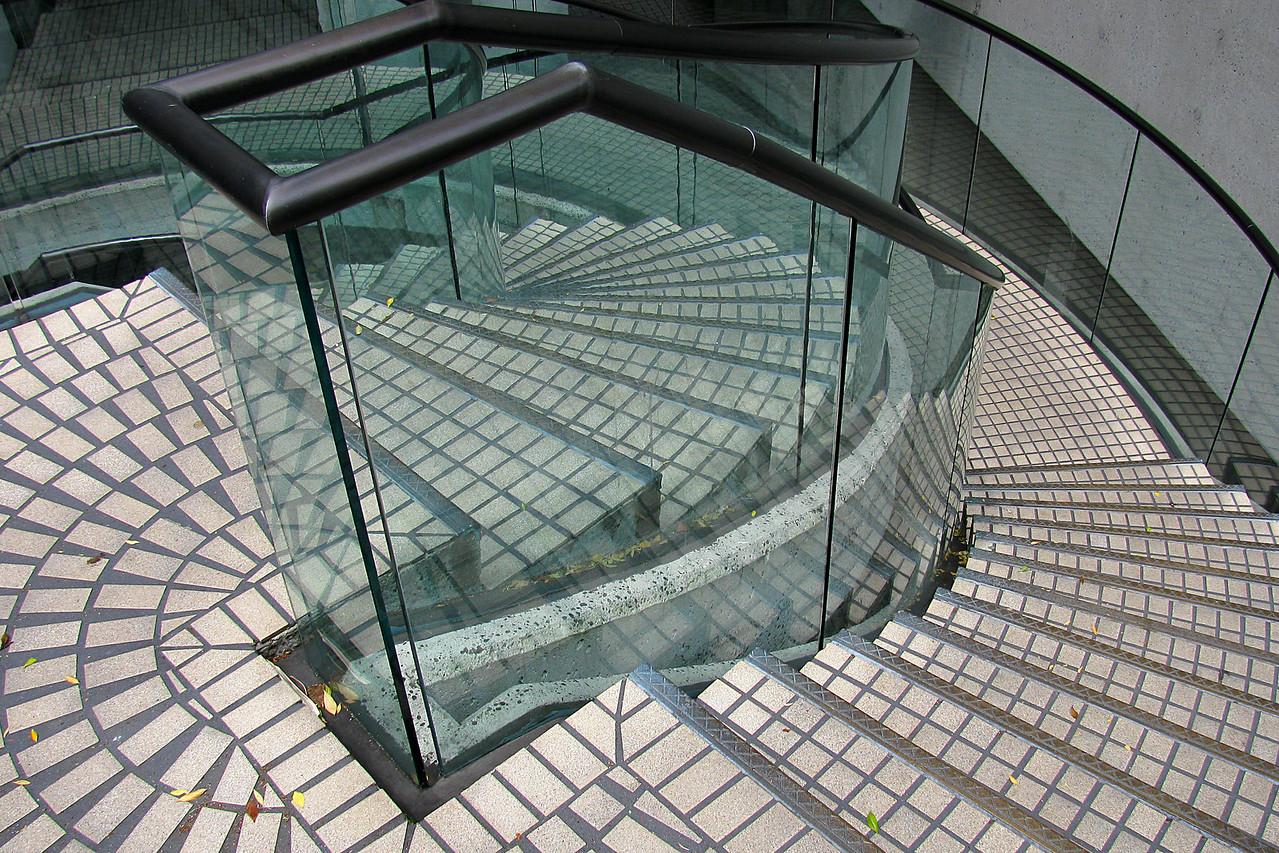Stairway in the Embarcadero Center.