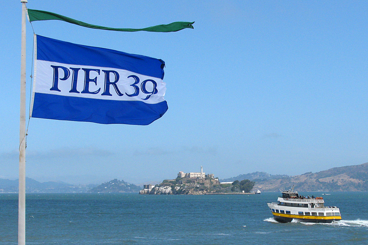 Another view of Alkatraz - this one from Pier 39 - Fisherman's Wharf.