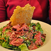 Linda's Caesar Salad with shaved filet mignon steak - outstanding food!