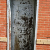 Centerville TX - The Leon County Jail - retired - entrance door - solid steel