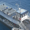 One of the ferries that took passengers to and from Half Moon Cay