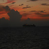 Our first sunset at sea