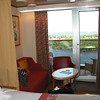 Part of our cabin and balcony on the Westerdam
