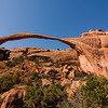 "The Landscape Arch (about 60M wide) is the second most famous arch in the park. The trails under and around it are closed since major chunks fell in 1991. This arch is set to fall ""any day"" now."