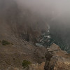 Every now and then the fog clears up for a moment and you can see a bit -- in this case far down the cliffs to the shore.