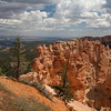 Another feature of the southern canyon rim, where the harder dolomite layer protects the softwer underlying layers.