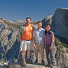 Ethan, Thomas and Alyssa above Yosemite Valley.