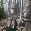 View of Vernal Falls with the very low flow of early fall.