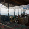 View of the watcher's office and residence on Buck Rock fire lookout, a small 4x4M abode on top of a rock outcropping on a 8800' peak. It is still actively staffed.