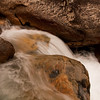 Low water flow in fall along the South Fork after coming over Roaring Falls.