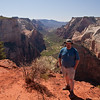 Ethan in front of Zion Canyon.