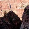 Small side canyons up the back part of the Observation Point trail.