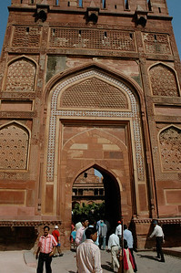 Agra Fort: the grand main entry gate.