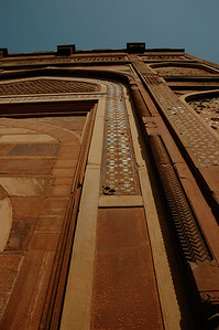 Agra Fort: with inlaid stone decorations.