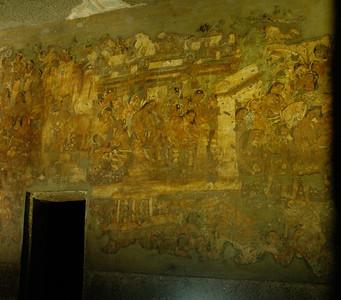Ajanta: Cave 1, paintings.