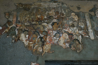 Ajanta: Cave 17 (500 A.D.); note the presence of African and Chinese figures.