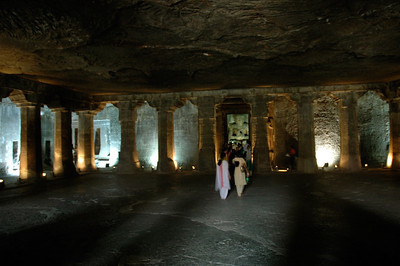 """Ajanta: just a sense of how grand are these """"caves""""."""