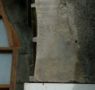 Ajanta: An inscription on Cave 10's entry arch.
