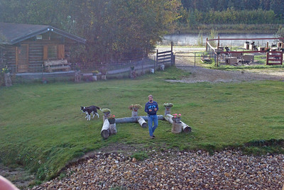 Susan Butcher's Sled Dog Training Camp - introduced by Husband dave - Riverboat Discovery tour