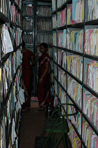 Aravind Eye Hospital: The medical records are all on paper, but EMR is in the works.