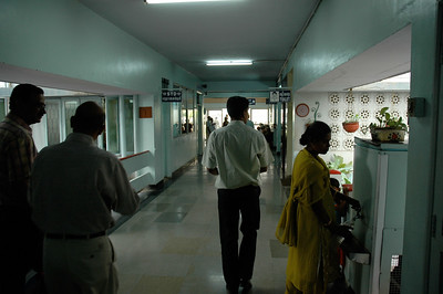 Aravind Eye Hospital: The hallways are clean and bright.