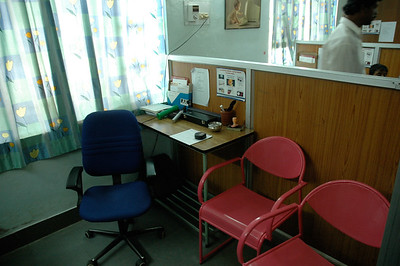Aravind Eye Hospital: other side of exam room in pediatric unit.