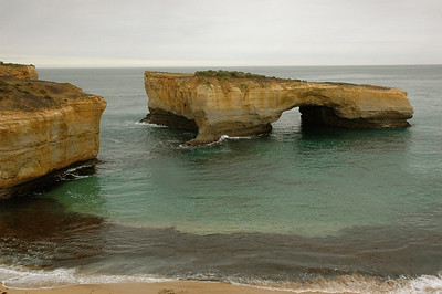 The sea leaves behind some spectacular sculpture. Australia Great Ocean Road.