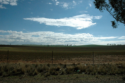 But there are huge flat empty spaces between towns. New South Wales, Australia