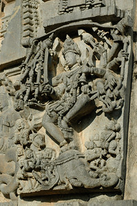 Chennakesava temple: Shiva, I think; look at all the weapons!