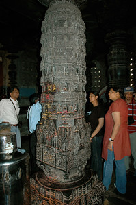 Chennakesava temple: the pillars are carved with stories and legends.