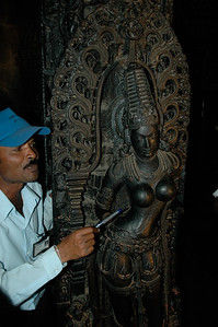Chennakesava temple: our guide explains the carvings -- I wish had taken notes!