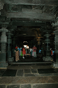 Chennakesava temple: 48 carved pillars inside.